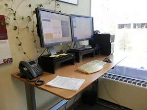 Stand up desk at work