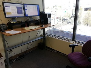 Another shot of the stand up desk