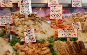 Seafood at Pike Place Market Fish Company